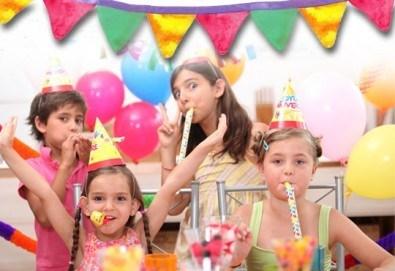 Детски рожден ден за 10 деца - в зала с много игри, рисунки на лице, подаръци и аниматори от Детски клуб Евърленд - Снимка