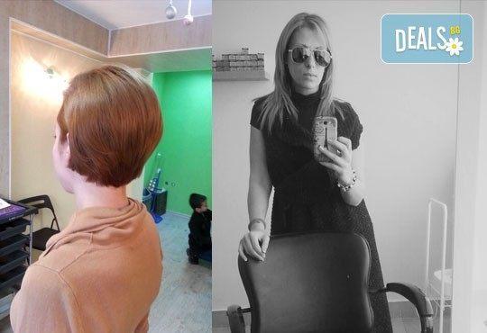 Подстригване при курсист - фризьор на BM Hair Studio под ръководството на професионален стилист! - Снимка 5
