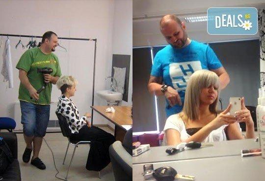 Подстригване при курсист - фризьор на BM Hair Studio под ръководството на професионален стилист! - Снимка 3