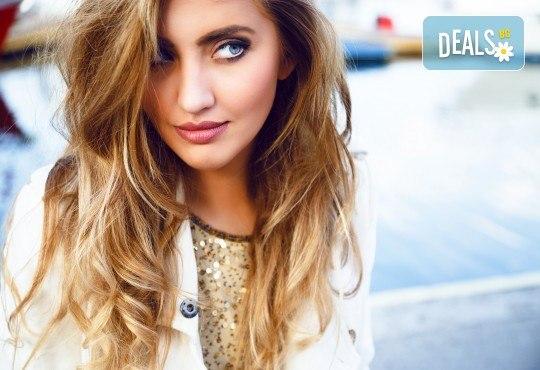 Модерна визия! Омбре прическа с италиански бои при професионален стилист на Салон за красота Blush Beauty! - Снимка 2