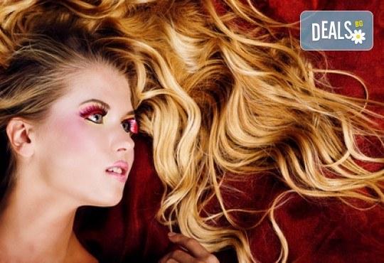 Модерна визия! Омбре прическа с италиански бои при професионален стилист на Салон за красота Blush Beauty! - Снимка 1