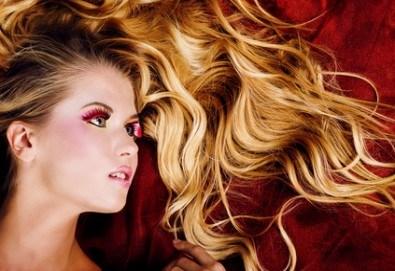 Модерна визия! Омбре прическа с италиански бои при професионален стилист на Салон за красота Blush Beauty! - Снимка
