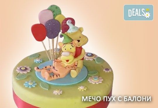 За най-малките! Детска торта с Мечо Пух, Смърфовете, Спондж Боб и други герои от Сладкарница Джорджо Джани - Снимка 16