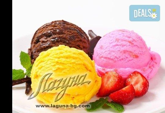 Изберете цял килограм невероятно вкусен сладолед за вкъщи за мелби и айс напитки с вкус по избор от Виенски салон Лагуна! - Снимка 3