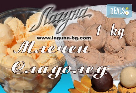 Изберете цял килограм невероятно вкусен сладолед за вкъщи за мелби и айс напитки с вкус по избор от Виенски салон Лагуна! - Снимка 5