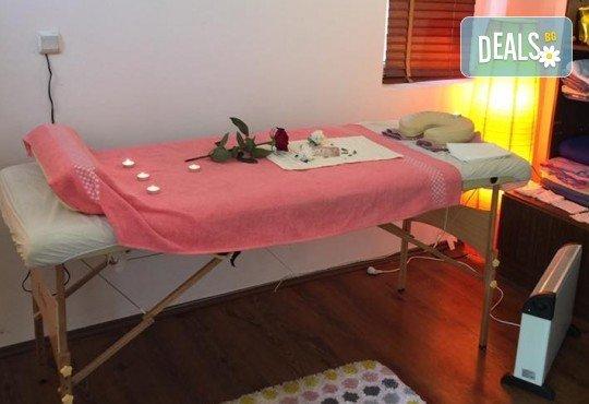 Заредете се със здраве! Опитайте масаж на цяло тяло и точков масаж и моксотерапия от масажно студио Дилянали - Снимка 4