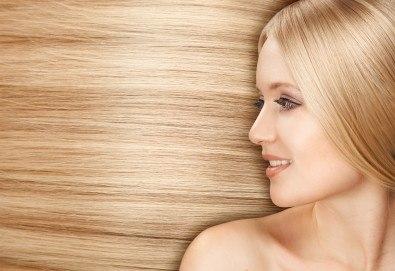 Свежо настроение в косите! Боядисване с боя на салона с подстригване и оформяне със сешоар в салон за красота Дъга - Снимка