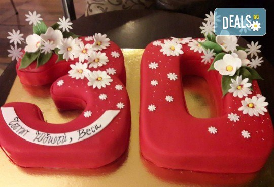 Цифри! Изкушаващо вкусна бутикова АРТ торта с цифри и размер по избор от Сладкарница Джорджо Джани - Снимка 19