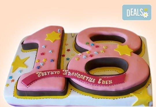 Цифри! Изкушаващо вкусна бутикова АРТ торта с цифри и размер по избор от Сладкарница Джорджо Джани - Снимка 1