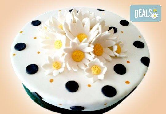Цветя! Празнична торта с пъстри цветя, дизайн на Сладкарница Джорджо Джани - Снимка 18