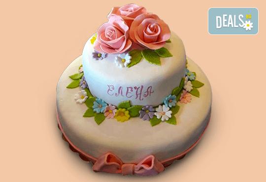 Цветя! Празнична торта с пъстри цветя, дизайн на Сладкарница Джорджо Джани - Снимка 4