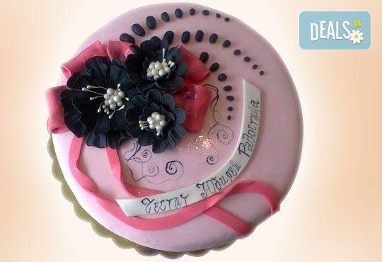 Цветя! Празнична торта с пъстри цветя, дизайн на Сладкарница Джорджо Джани - Снимка 2