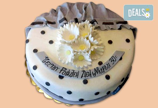 Цветя! Празнична торта с пъстри цветя, дизайн на Сладкарница Джорджо Джани - Снимка 6