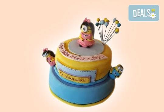 За момичета! Красиви детски торти за момичета с принцеси и приказни феи + ръчно моделирана декорация от Сладкарница Джорджо Джани - Снимка 34