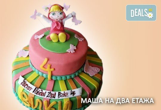 За момичета! Красиви детски торти за момичета с принцеси и приказни феи + ръчно моделирана декорация от Сладкарница Джорджо Джани - Снимка 27