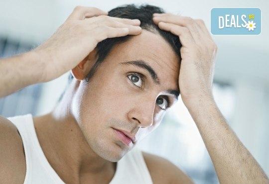 За гъста и здрава коса! Лазерно лечение на кръгово или генетично оплешивяване от дерматолог в салон Make Trix! - Снимка 1