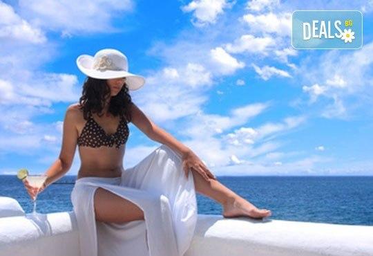 На плаж в Амолофи от юни до септември! 1 нощувка със закуска в Oceanis 3*, транспорт, екскурзовод и посещение на Кавала - Снимка 1