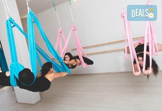 Опитайте нещо ново и нетрадиционно! 2 посещения по ваш избор: пол денс, екзотик пол денс или въздушна акробатика (обръч и воали) в Pole Dance Bulgaria! - Снимка 5