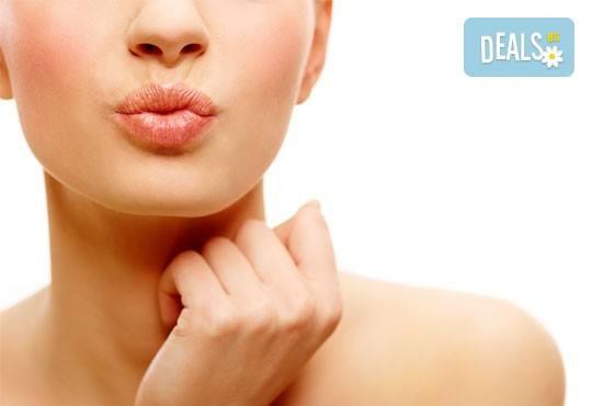 Безиглено уголемяване на устни или попълване на бръчки с американски хиалуронов филър и ултразвук от NSB Beauty Center! - Снимка 1