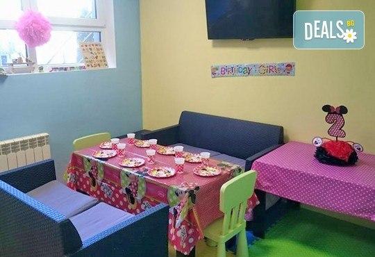 Детски празник за 10 деца! 2 часа парти с украса, аниматор, малка пица Маргарита, сокче, солети и пуканки, торта за децата и кетъринг за възрастните от Fun House! - Снимка 8