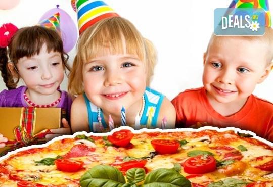 Детски празник за 10 деца! 2 часа парти с украса, аниматор, малка пица Маргарита, сокче, солети и пуканки, торта за децата и кетъринг за възрастните от Fun House! - Снимка 3