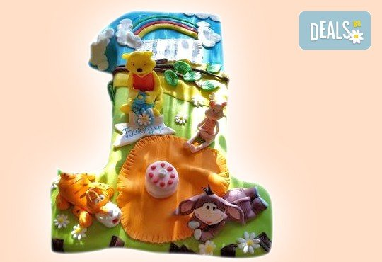 Честито бебе! Торта за изписване от родилния дом, за 1-ви рожден ден или за прощъпулник! Специална оферта на Сладкарница Джорджо Джани! - Снимка 3
