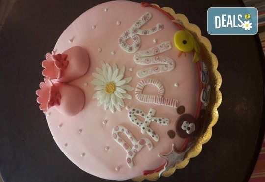 Честито бебе! Торта за изписване от родилния дом, за 1-ви рожден ден или за прощъпулник! Специална оферта на Сладкарница Джорджо Джани! - Снимка 2