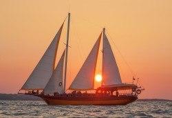 Яхта Трофи Ви очаква в Созопол! Два часа морска разходка по залез слънце в красивите заливи около Созопол на страхотна цена! - Снимка
