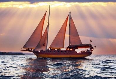 Време е за море, слънце и морски приключения! Яхта Трофи - 5 часов круиз до о. Света Анастасия, плаване, плаж и закуска на борда! - Снимка