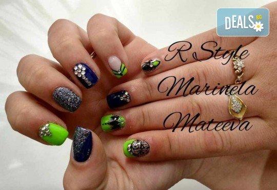 Облечете ноктите си в цвят! Маникюр с гел лак Lila Rossa и 2 декорации + бонус: сваляне на стар гел лак в салон за красота R Style! - Снимка 4