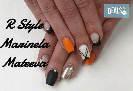 Облечете ноктите си в цвят! Маникюр с гел лак Lila Rossa и 2 декорации + бонус: сваляне на стар гел лак в салон за красота R Style! - Снимка 2