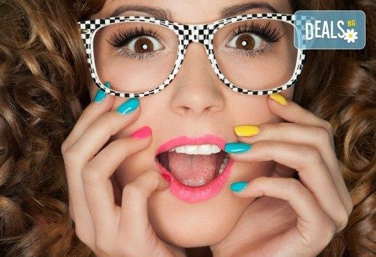 Неонов летен омбре маникюр с гел лак от Superlativ Beauty House! - Снимка 2
