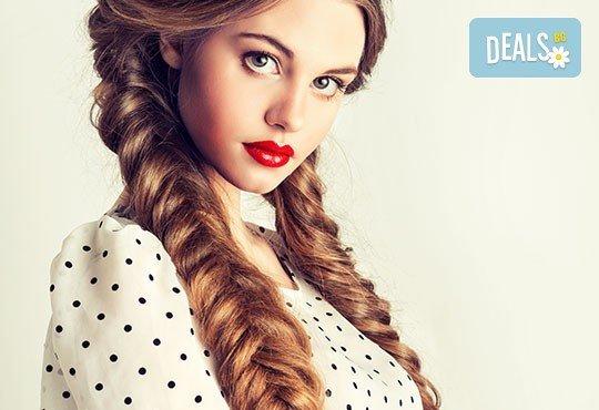 2, 3 плитки или рибена кост на измита коса от салон за красота Soleil! - Снимка 1