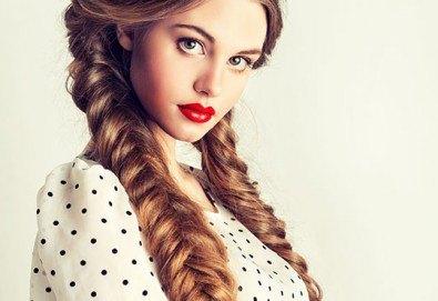 2, 3 плитки или рибена кост на измита коса от салон за красота Soleil! - Снимка