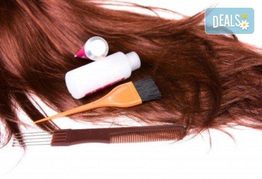 Боядисване с боя на клиента, масажно измиване, маска, подсушаване и подстригване по избор в салон за красота Soleil! - Снимка 2