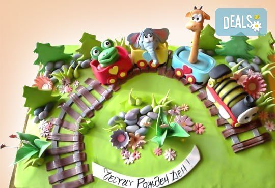 25 парчета! Детска 3D торта с фигурална ръчно изработена декорация от Сладкарница Джорджо Джани - Снимка 2