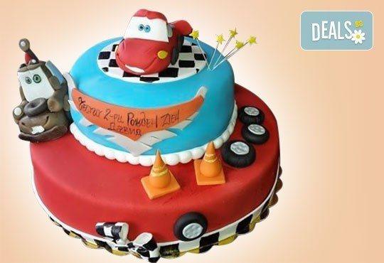 25 парчета! Детска 3D торта с фигурална ръчно изработена декорация от Сладкарница Джорджо Джани - Снимка 1