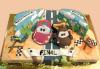 Смърфове, Миньони и Мечо Пух! Голяма детска 3D торта 37 ПАРЧЕТА с фигурална ръчно изработена декорация от Сладкарница Джорджо Джани - thumb 1
