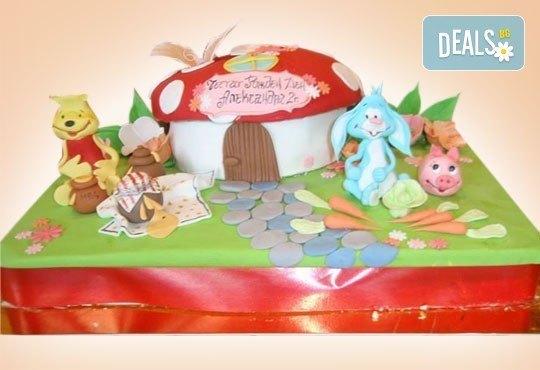 Смърфове, Миньони и Мечо Пух! Голяма детска 3D торта 37 ПАРЧЕТА с фигурална ръчно изработена декорация от Сладкарница Джорджо Джани - Снимка 3