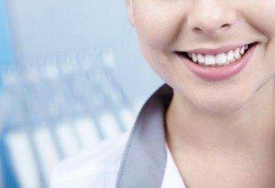 Високоестетична фотополимерна фасета (бондинг) на един зъб от дентален кабинет д-р Чорбаджаков - ж.к. Дружба 1 - Снимка