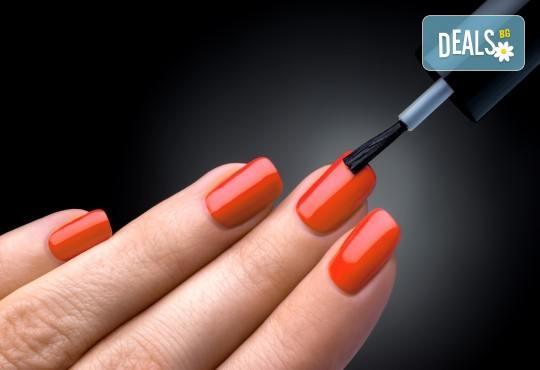 Горещи цветове върху ноктите! Класически маникюр с лак на OPI или SNB в салон за красота Виктория - Снимка 2