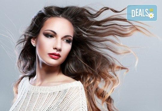 Грижа за красива коса! Кератинова терапия, масажно измиване и оформяне със сешоар в салон за красота Виктория - Снимка 2