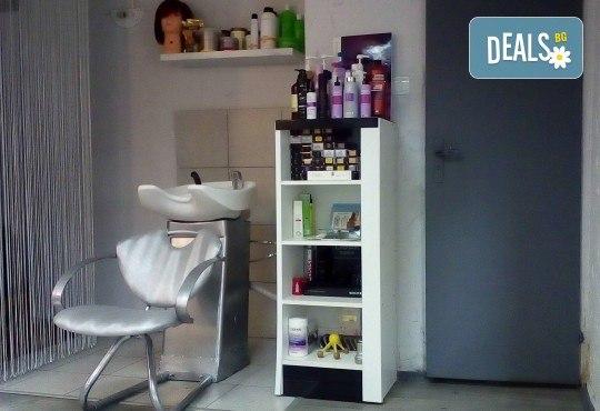 Боядисване с боя на клиента, масажно измиване, маска с хайвер, серум и оформяне на ежедневна прическа в студио за красота LD - Снимка 6
