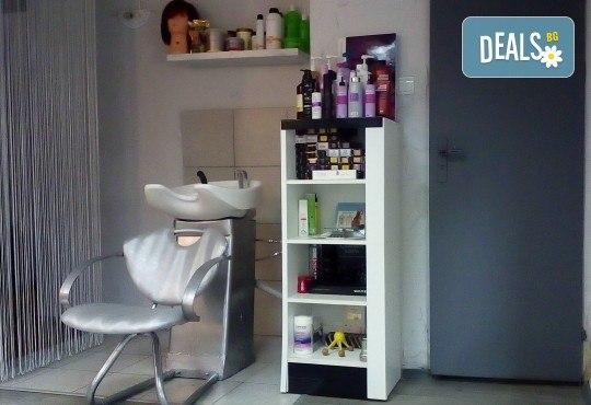 Масажно измиване с шампоан и нанасяне на маска с професионални италиански продукти Selective Professional, ежедневна прическа или плитка в студио за красота LD - Снимка 7