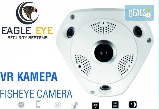 Професионална защита за дома или офиса! Панорамна VR камера Еagle eye security - Grizzly Mall от Shills - Снимка 1