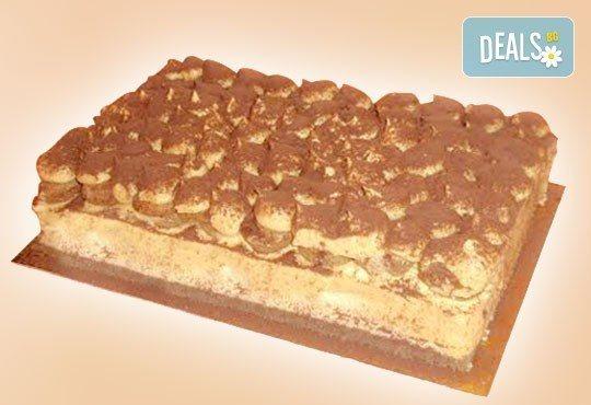 Опитайте най-новият сладкиш на Джорджо Джани! Тирамису - маскарпоне, бишкоти, кафе и ликьор в 12 големи парчета! - Снимка 1