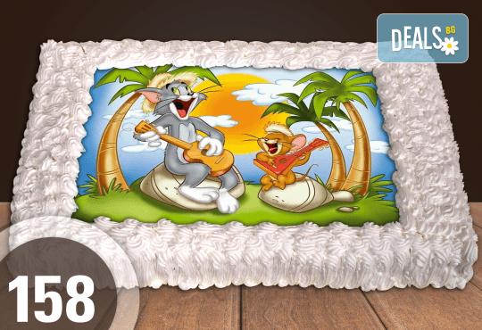 С любима снимка! Голяма детска торта 20, 25 или 30 парчета със снимка на любим герой от Сладкарница Джорджо Джани! - Снимка 39