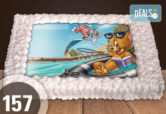 С любима снимка! Голяма детска торта 20, 25 или 30 парчета със снимка на любим герой от Сладкарница Джорджо Джани! - Снимка 42