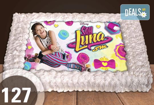 С любима снимка! Голяма детска торта 20, 25 или 30 парчета със снимка на любим герой от Сладкарница Джорджо Джани! - Снимка 16