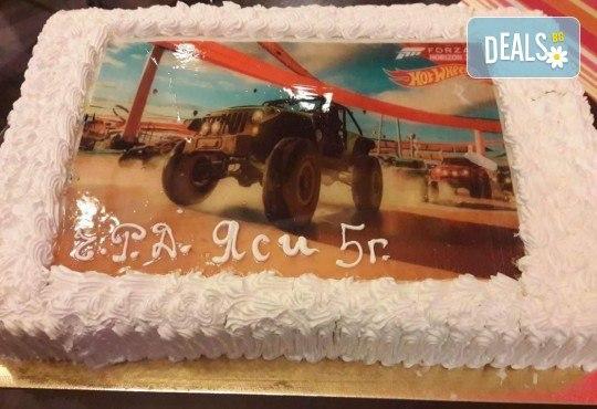 С любима снимка! Голяма детска торта 20, 25 или 30 парчета със снимка на любим герой от Сладкарница Джорджо Джани! - Снимка 4